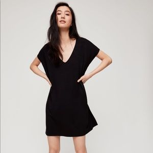 NWT aritzia Wilfred free marcoux dress black